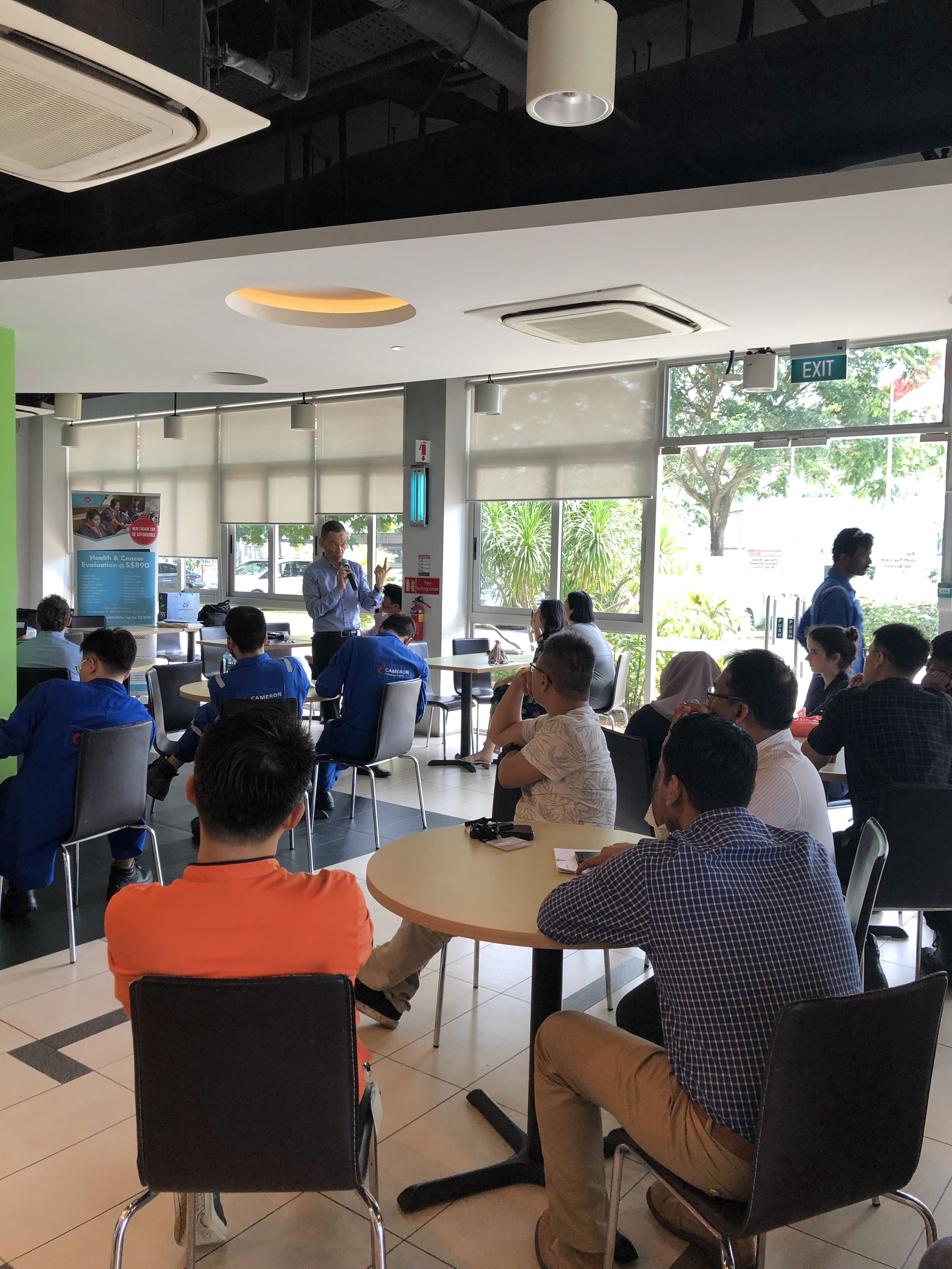 Corporate Lunch Health Talk – Cameron Singapore – MWH Medical